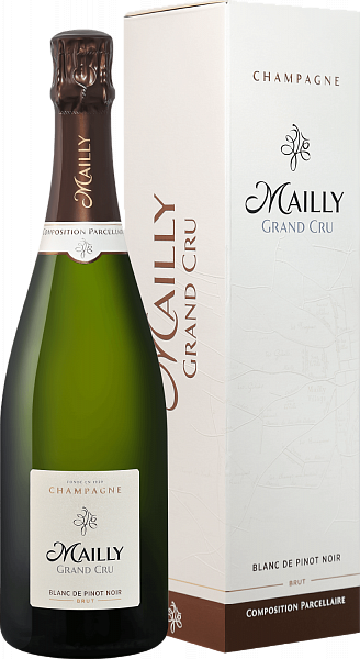Mailly Grand Cru Brut Blanc de Pinot Noir Champagne АОС (gift box),  0.75л