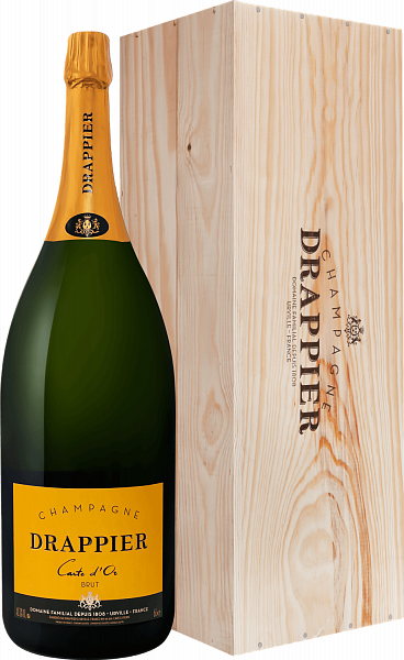Drappier Carte d'Or Brut Champagne AOP in gift box, 6л